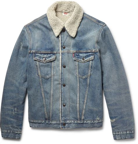 Jaket Denim Hoodie Wanita Levi S Vintage Clothing Shearling Lined Denim Jacket