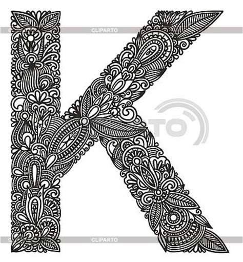 Letter K Drawing by Initial Letters Stock Photos And Vektor Eps Clipart