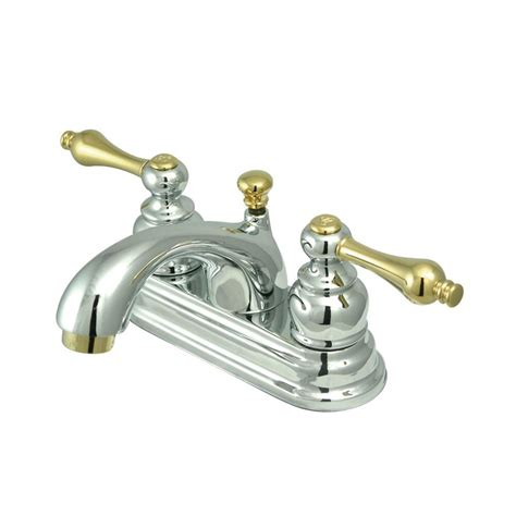 Shop Elements Of Design St Regis Polished Chrome Polished Chrome And Brass Bathroom Faucets
