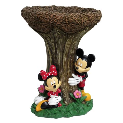 Shop Disney 21.5 in H 1 Tier Round Resin Birdbath at Lowes.com