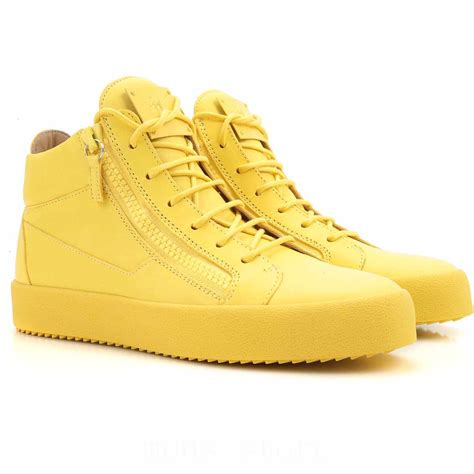 mens shoes sale giuseppe zanotti design sneakers yellow
