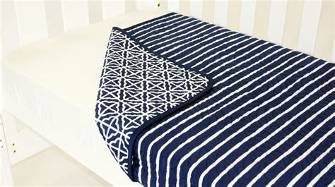 Amani Bebe Breezy Blue Coverlet Navy White Bubs N Grubs
