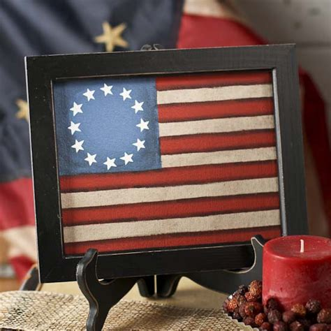 americana home decor catalogs framed painted canvas americana old glory flag americana