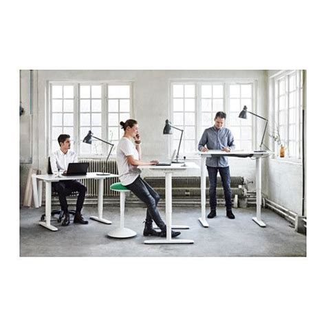 Adjustable Desk For Standing Or Sitting Bekant Desk Sit Stand Black Brown White Offices 150 Lbs And Standing Desks