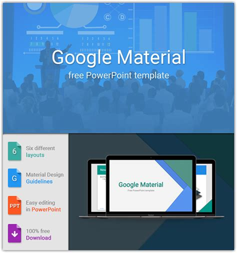 google material design free powerpoint template on behance