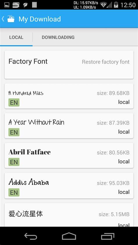 android typeface ifont font per android app android su play