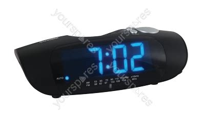 am fm radio alarm clock large blue led display j414bk by lloytron