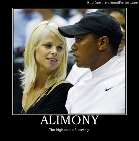 funny celebrity posters alimony demotivational poster