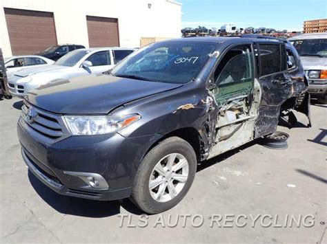 toyota highlander parts parting out 2013 toyota highlander stock 6187bl tls