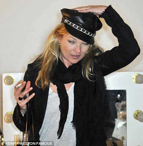 Geekery Rubs On Catwalk For Operation Kate Moss by Kate Moss Has A Cigarette At Hakaan Fashion Show Daily
