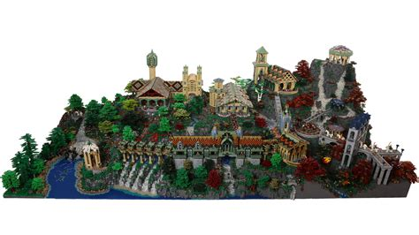 Tutorial Lego Lord Of The Rings | 200 000 piece lego model of rivendell from the lord of the