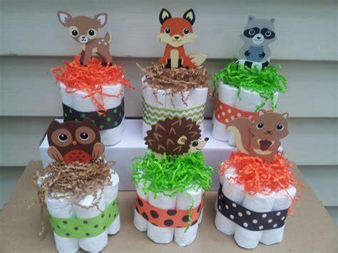 woodland themed baby shower decorations 6 woodland theme mini cakes baby shower centerpiece