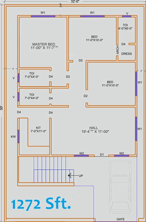 home design for 1250 sq ft 1350 sq ft house plan in india