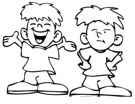 imagenes de niñas alegres para colorear nino feliz y nino triste para pintar y colorear colorear