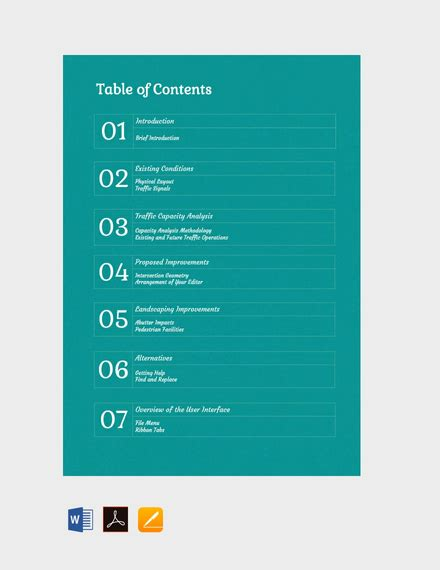 5 table of contents template hostess resume