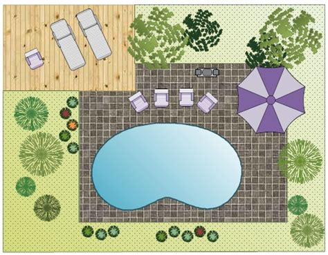 pool layout garden design layout software free