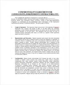 Contractor Confidentiality Agreement Template by Sle Contractor Confidentiality Agreement 7 Documents