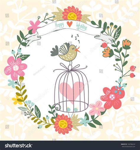 dribbble happy wedding gentle by marusha beautiful greeting card happy wedding gentle stock vector
