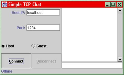 simple java swing gui exle java tcp sockets and swing tutorial