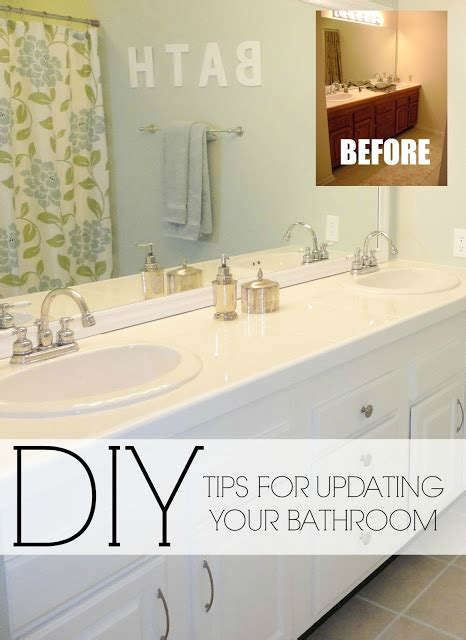 Diy Bathroom Mirror Ideas by Livelovediy Easy Diy Ideas For Updating Your Bathroom