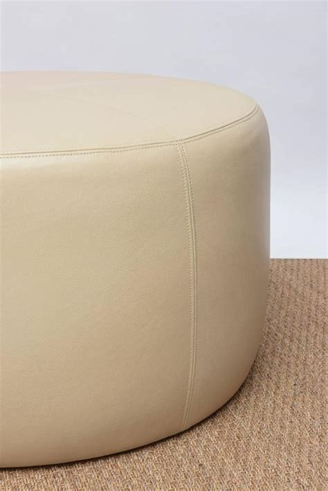 round leather ottoman for sale at 1stdibs round leather ottoman for sale at 1stdibs