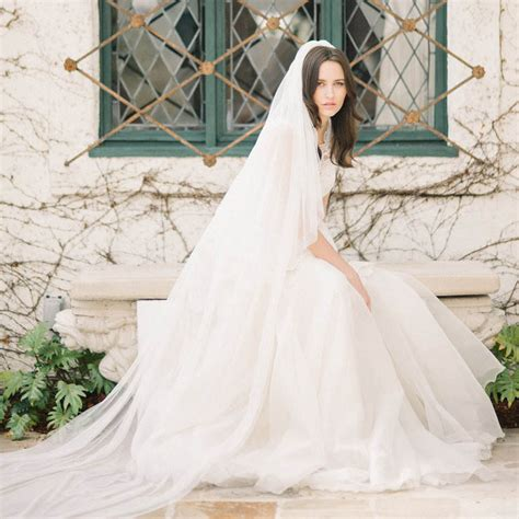Wedding Hairstyles For Cathedral Veils by Cathedral Length Wedding Veils Trellischicago