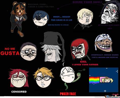 Black Butler Memes - black butler meme faces by kazzaspexy meme center