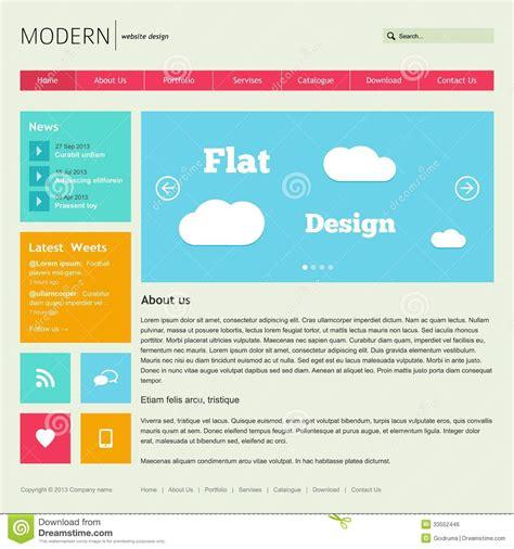website layout template vector flat web design template stock vector image of menu