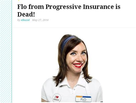 phillips commercial actress dies flo from progressive insurance dies hoax stephanie