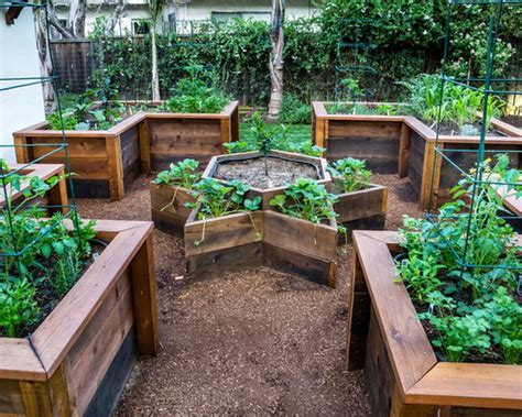 Stone Raised Bed Vegetable Beds In California Front Yard Front Garden Bed Ideas