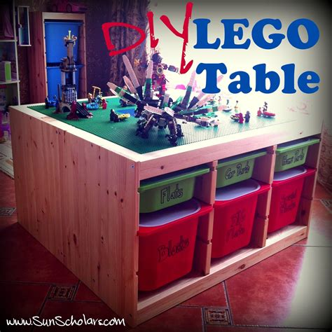 diy lego table with storage diy ikea lego table aka the secret project the day