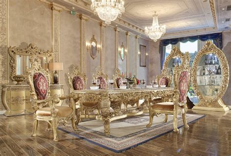 hd  dining set long table homey design victorian style