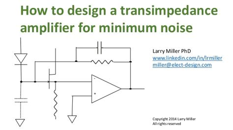how to design a photo how to design a noise optimized transimpedance lifier