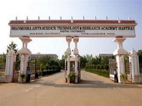 In Thanjavur For Mba by Sastra Offers B Tech And M Tech Admissions For
