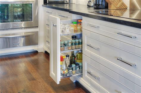 pull out racks for kitchen cabinets spice cabinet pull out kitchen transitional with hickory