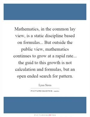 pattern language mathematics what humans do with the language of mathematics is to