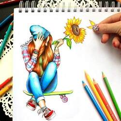 Color Me Creative Kristina Webb Girlish Artwork Drawing Top Beautiful Color Images