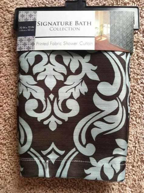 brown damask shower curtain new teal brown damask shower curtain 70x72 teal