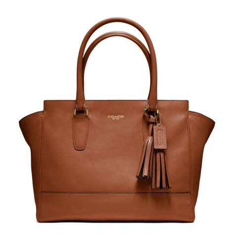 Coach Legacy Leather lyst coach legacy leather medium carryall in brown