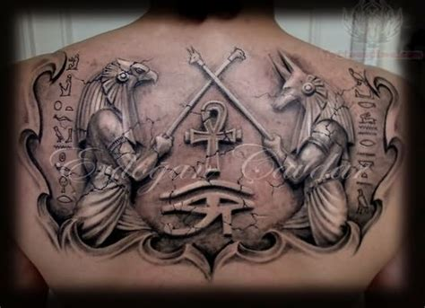 egyptian gods tattoo designs upperback anubis gods