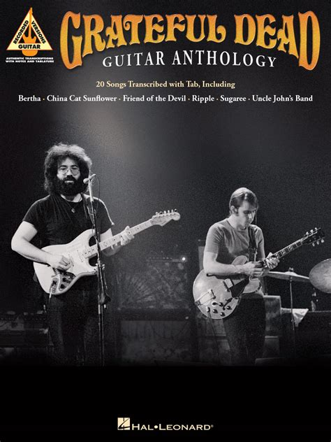 libro songs of a dead grateful dead guitar anthology tablature chitarra libro spartiti jerry garcia tablature