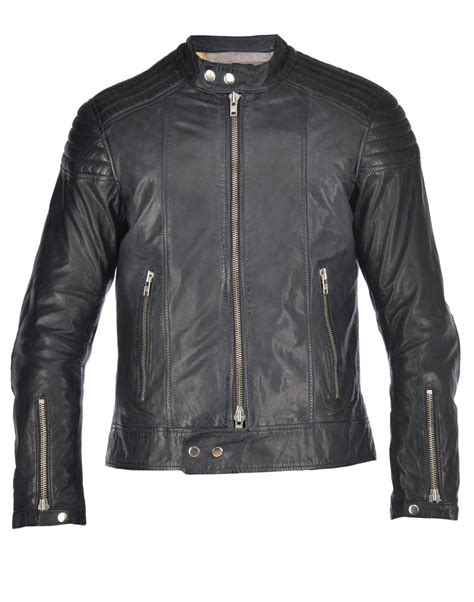 motor leather jacket bully bully motor biker jacket blue s