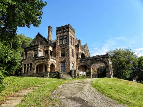 Cheap Home Floor Plans by Sharon Pa Victorian Stone Mansion On The Hill Abandon