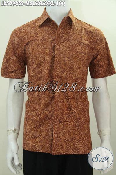 Ld Cap Smok Baju Batik Baju Batik Kantor busana batik coklat proses cap smoke motif trendy baju