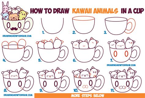 doodle drawing guide how to draw kawaii animals coloring europe travel