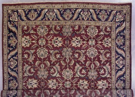12x15 area rugs 12x15 burgundy blue mahal knotted wool area rug carpet new ebay