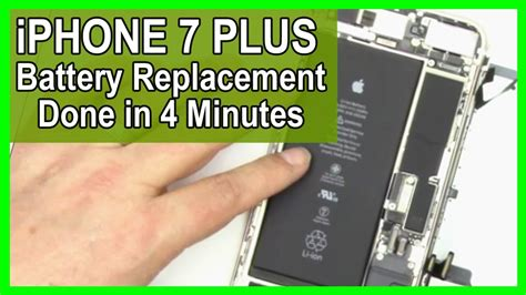 iphone 7 plus battery repair replacement in 4 minutes