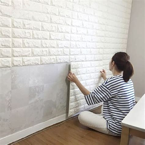 Peel And Stick Wallpaper Brick Design
