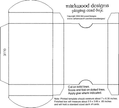 deck of card packaging template advanced projects in computers october 2011