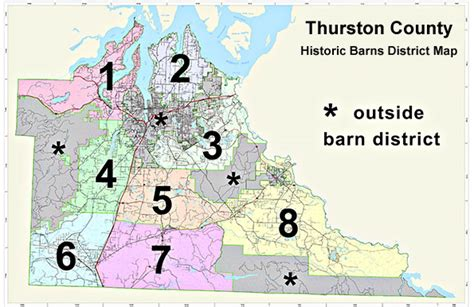 Thurston County Records Historic Barn Maps Thurston County Historic Commission